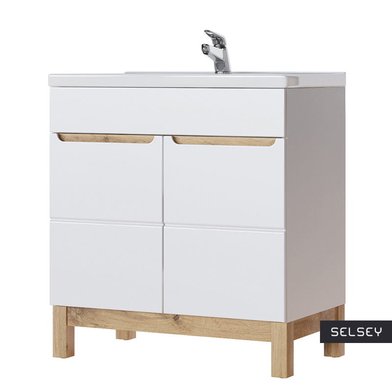 Jakkarta White Bathroom Vanity Unit 80 cm
