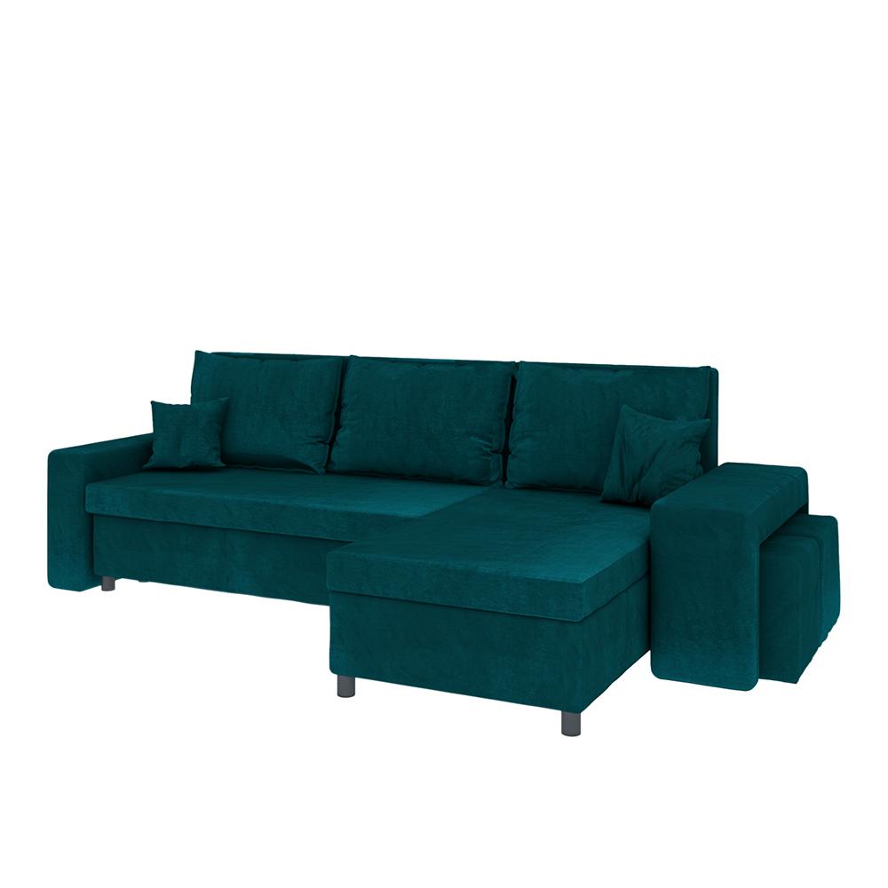 Levebre Corner Sofa Bed with Poufs