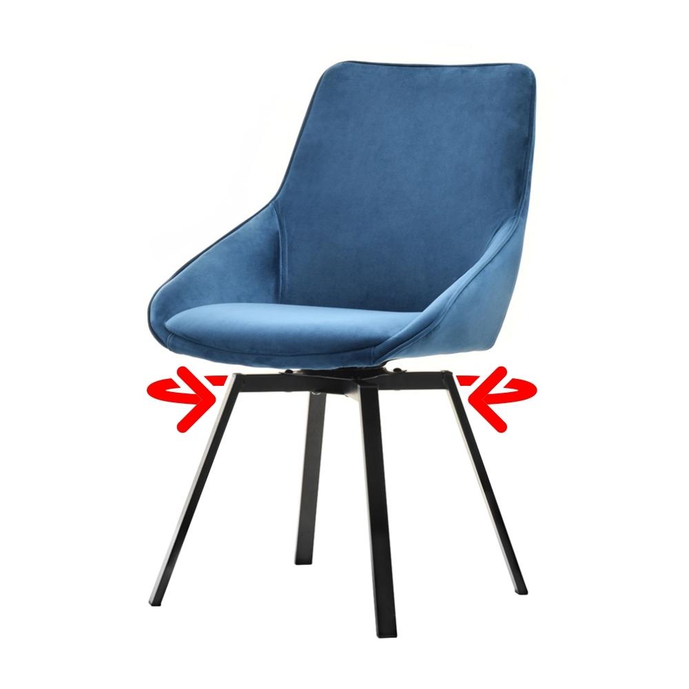 Yanii Black Swivel Chair