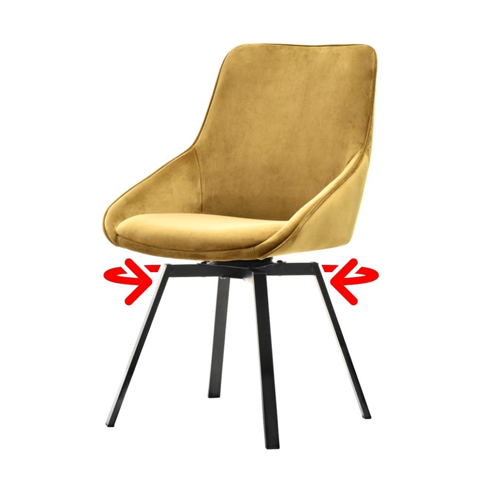 Yanii Golden Swivel Chair