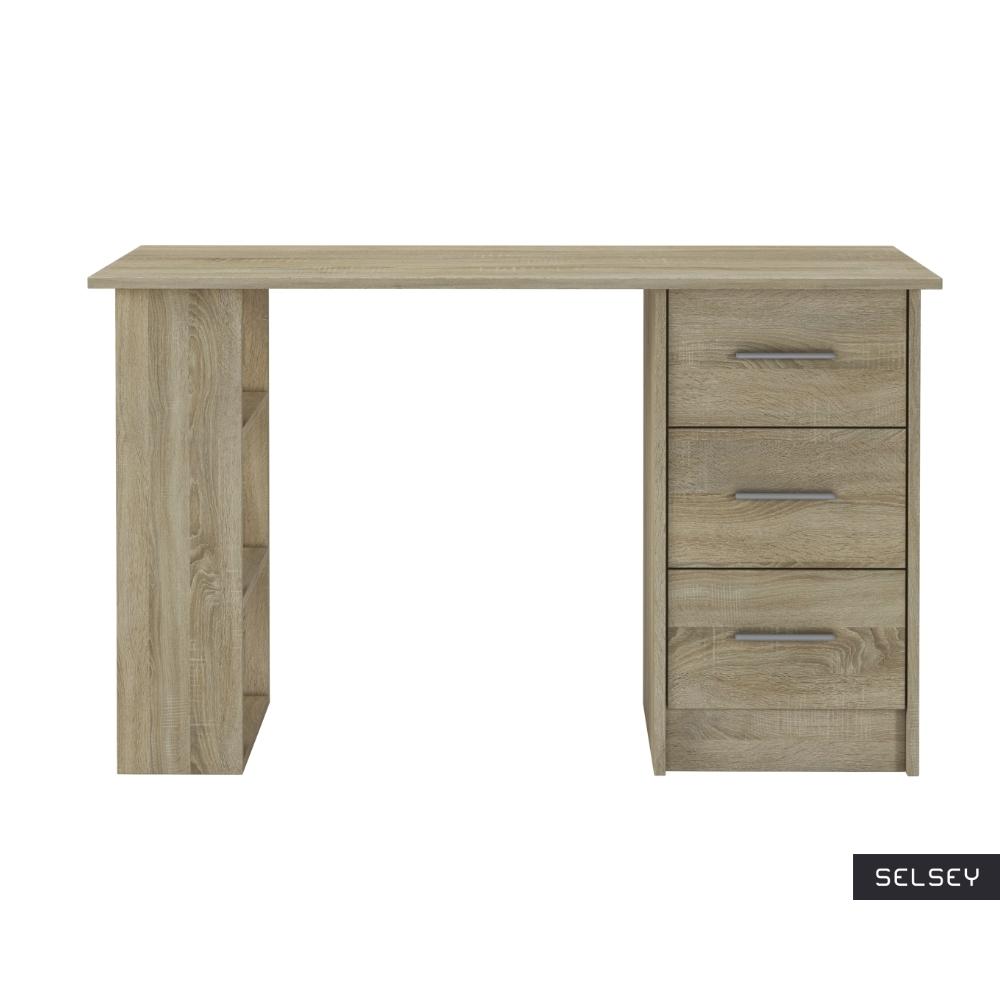 Sargas Desk with 3 Drawers Sonoma Oak