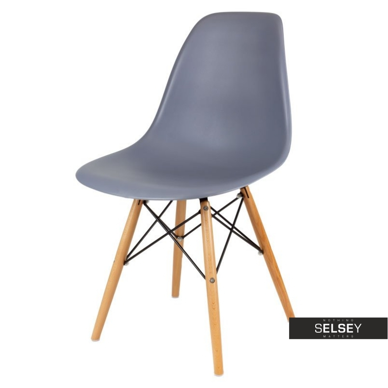 Basic Marine Nordic Style Chair on Wooden Legs