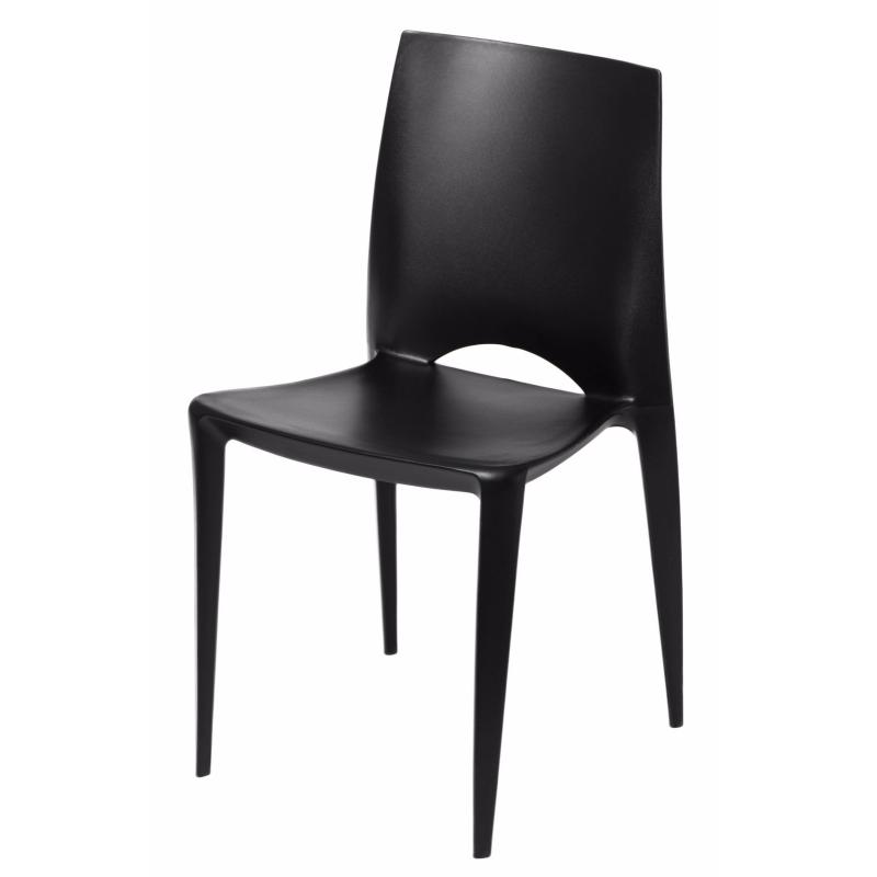 Bee Black Plastic Chair