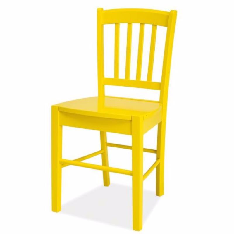 Bergen Yellow Wooden Chair