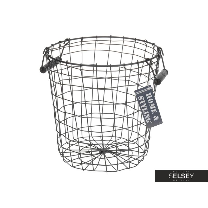 Bron Metal Basket with Wooden Handles 29.5 cm