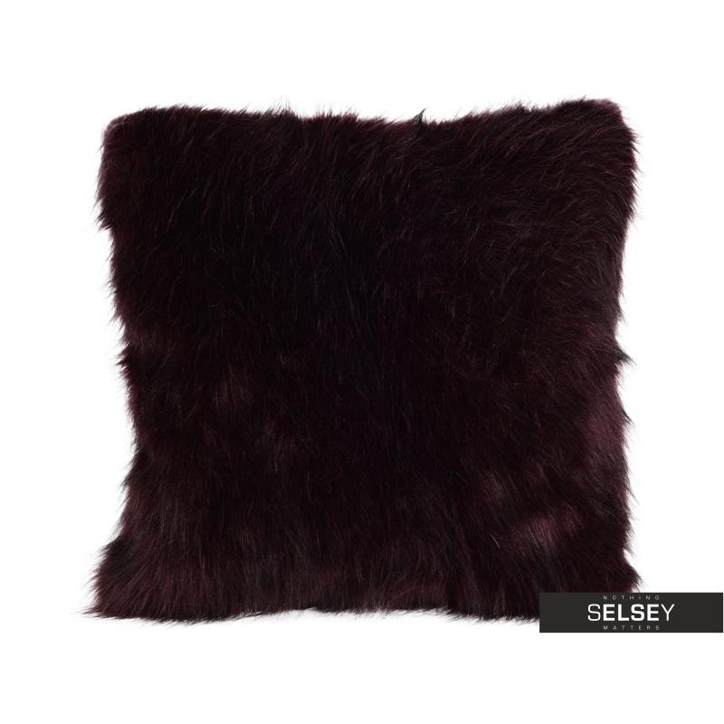 Furry Burgundy Cushion 45x45 cm