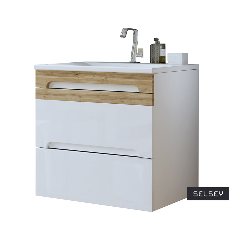 Warner White Floating Vanity Unit 60 cm