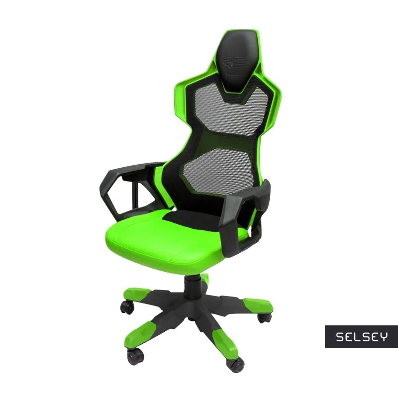 E-Blue Cobra Air Gaming Chair Black and Green
