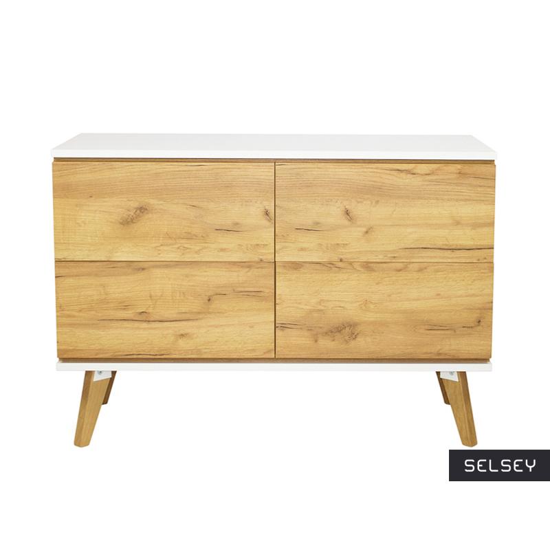 Damaro Golden Oak 4 Drawer Sideboard