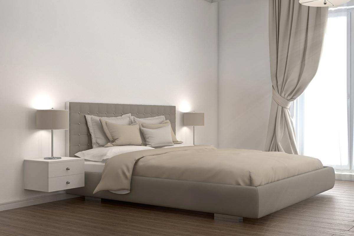 napoli 2 drawer floating bedside cabinet