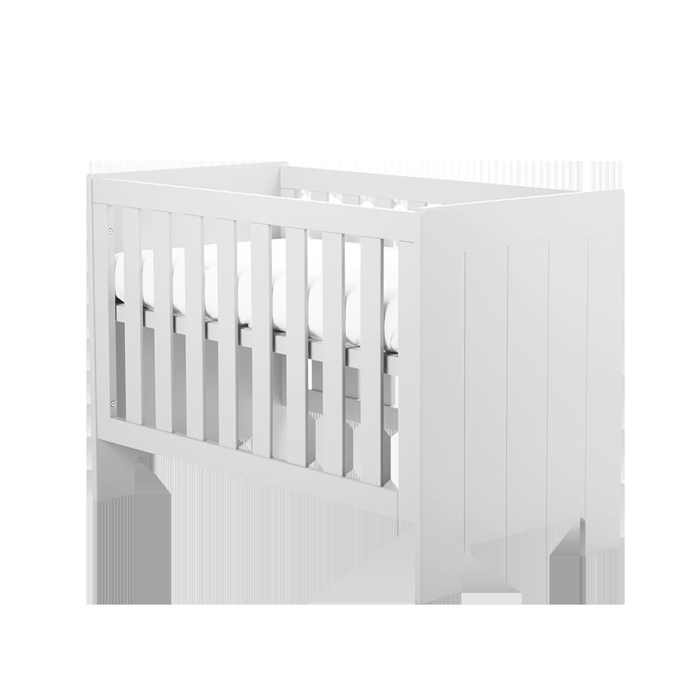 Calmo White Cot Bed 120 x 60 cm