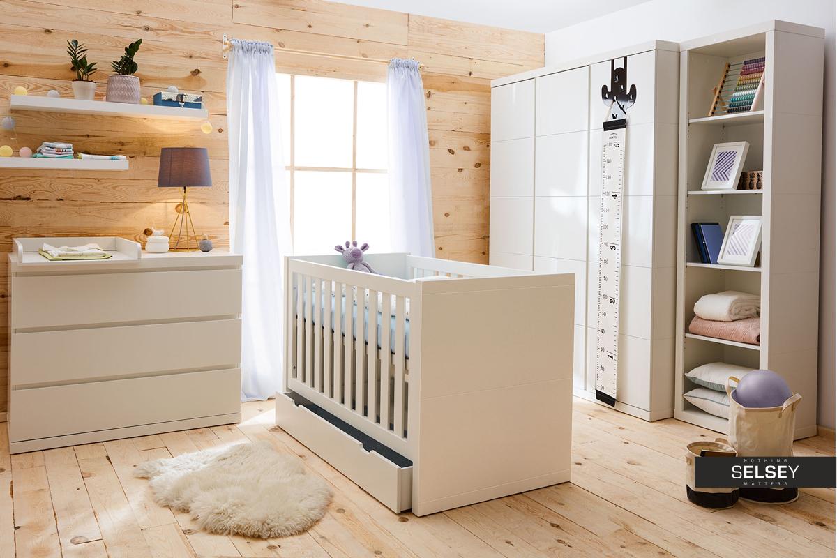 lara 2 white floating shelves set 100 cm