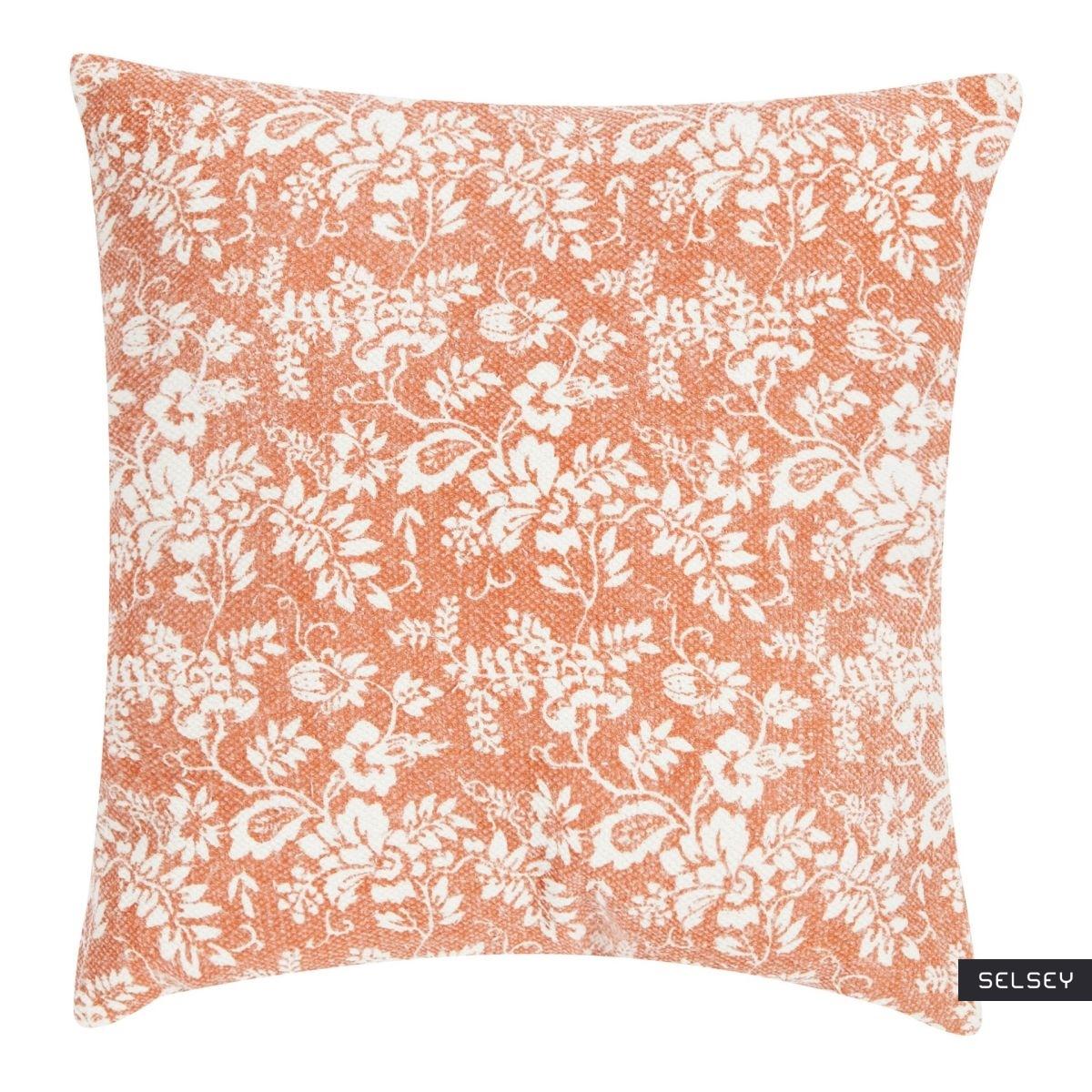 Flower Garden Orange Scatter Cushion 45x45 cm