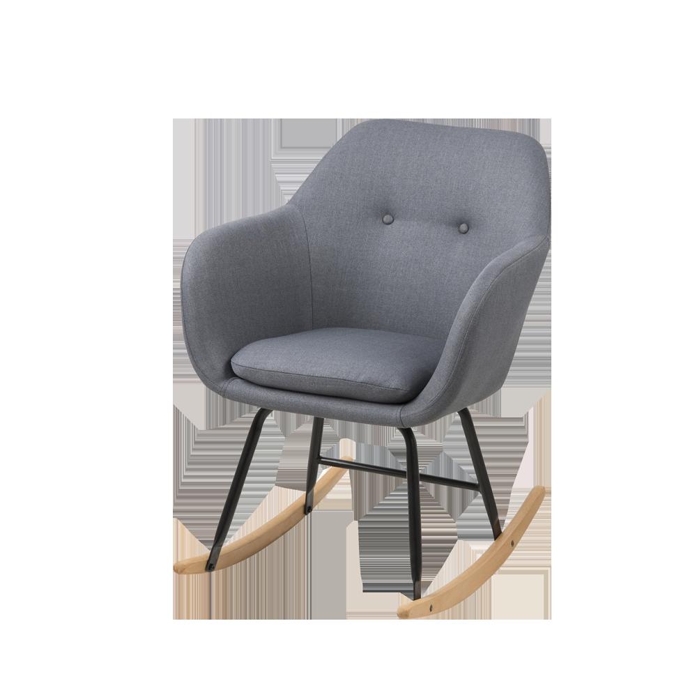 Emilia Grey Rocking Armchair