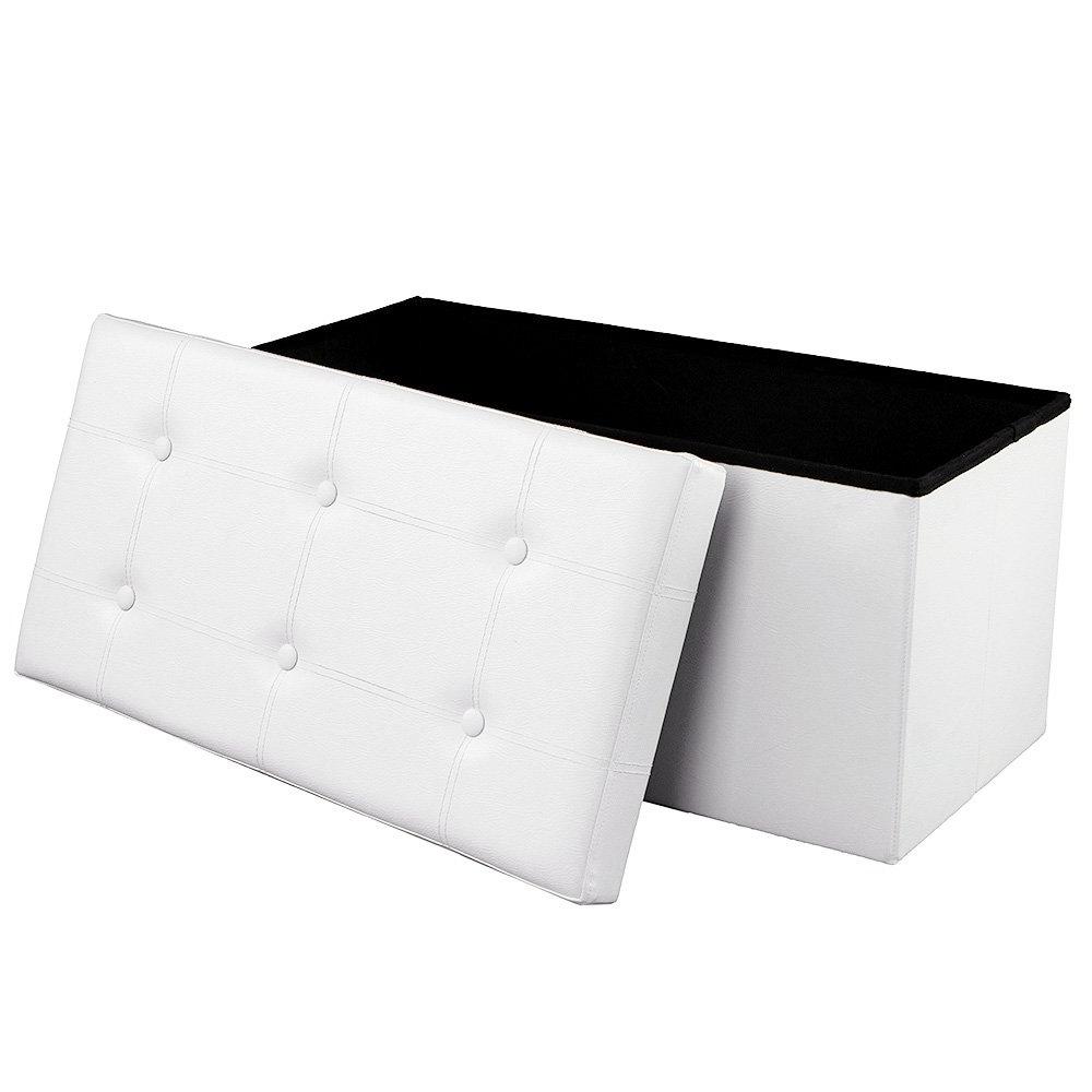 Ali White Tufted Trunk 76x38 cm