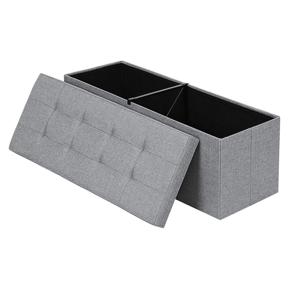 Ali Grey Tufted Trunk 110x38 cm