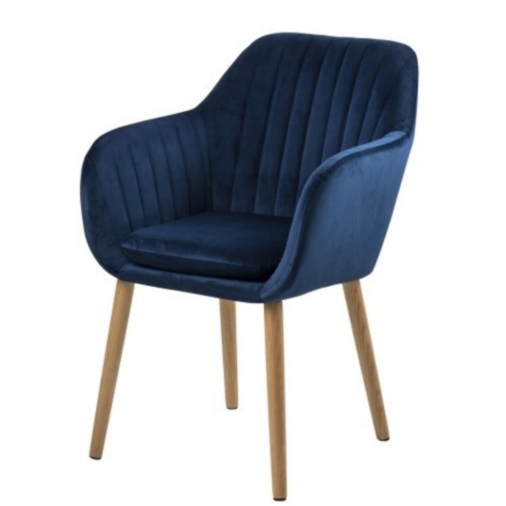Elidi Navy Blue Upholstered Chair