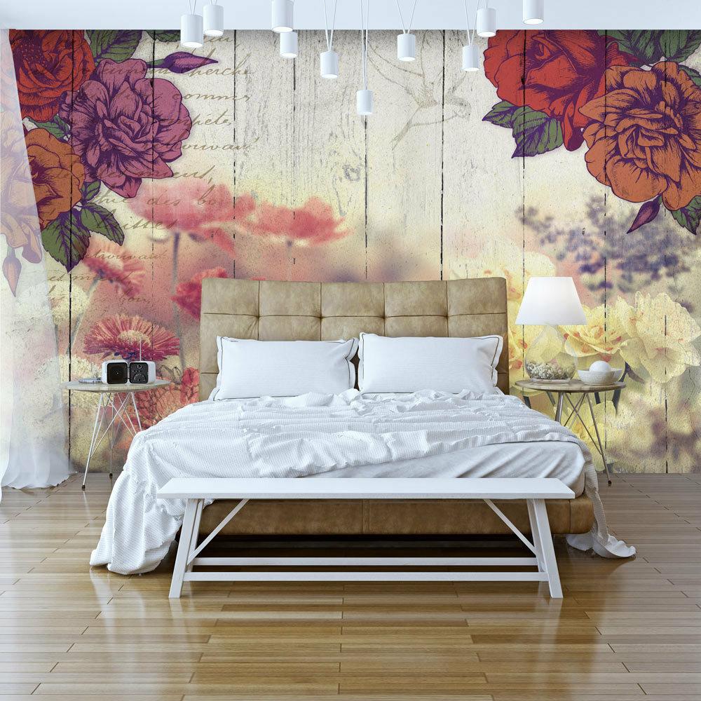 Vintage Flowers Mural Wallpaper