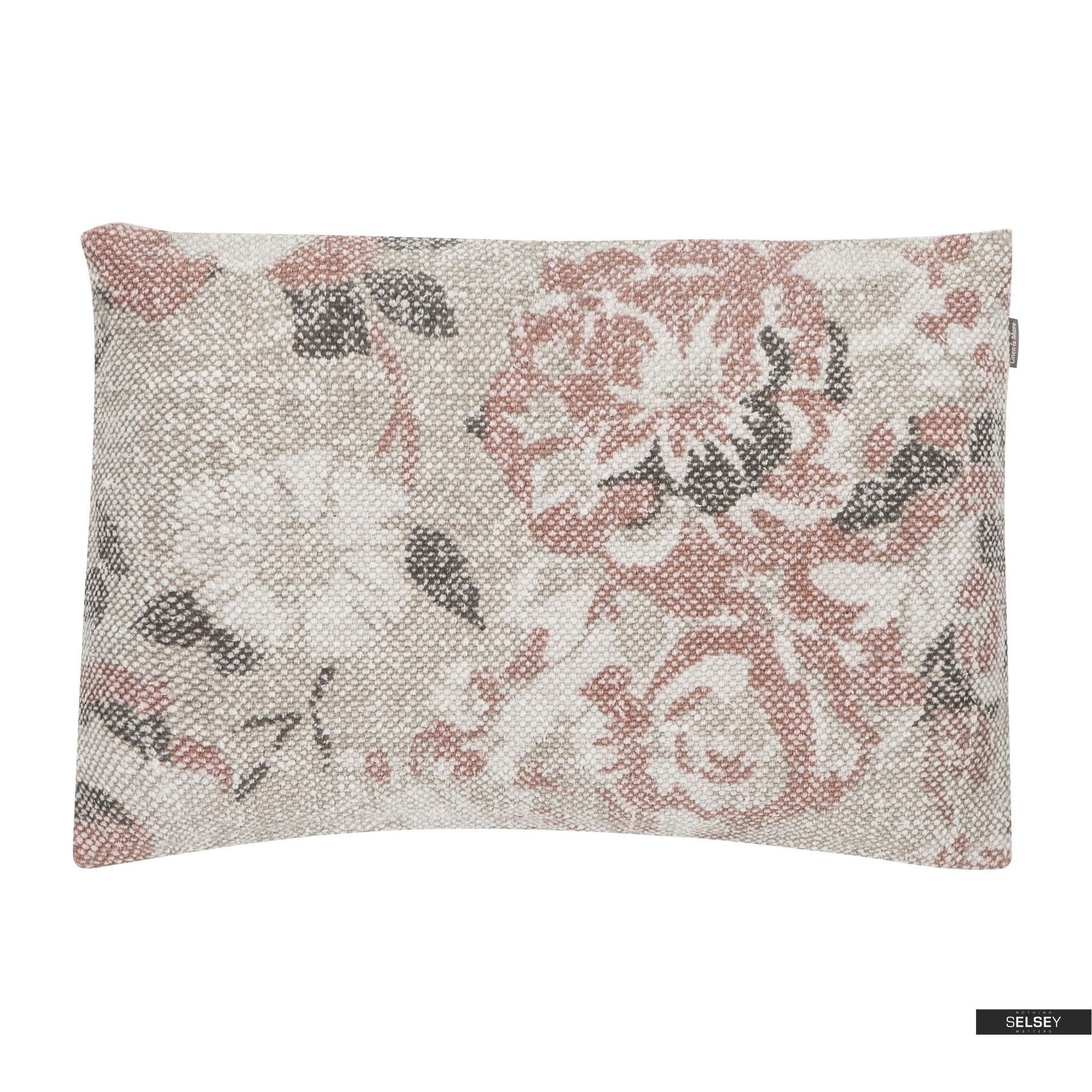Vintage Flowers Pastel Cushion 35x50 cm