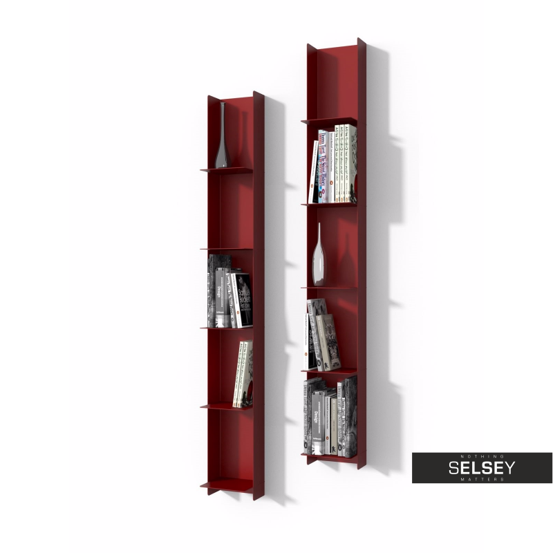 Wondrous Libra Red Floating Metal Shelf Interior Design Ideas Clesiryabchikinfo