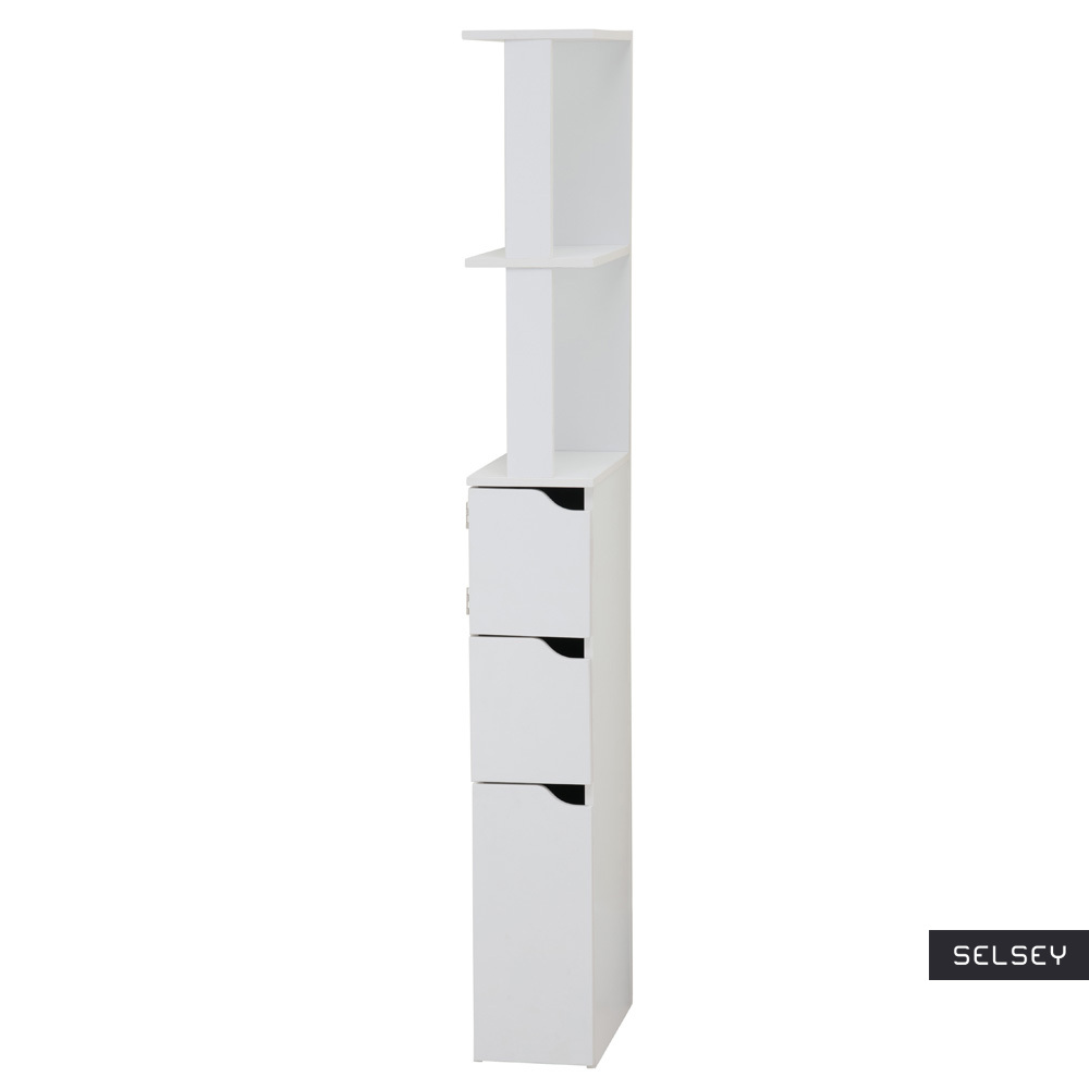 Carinda White Bathroom Storage Unit