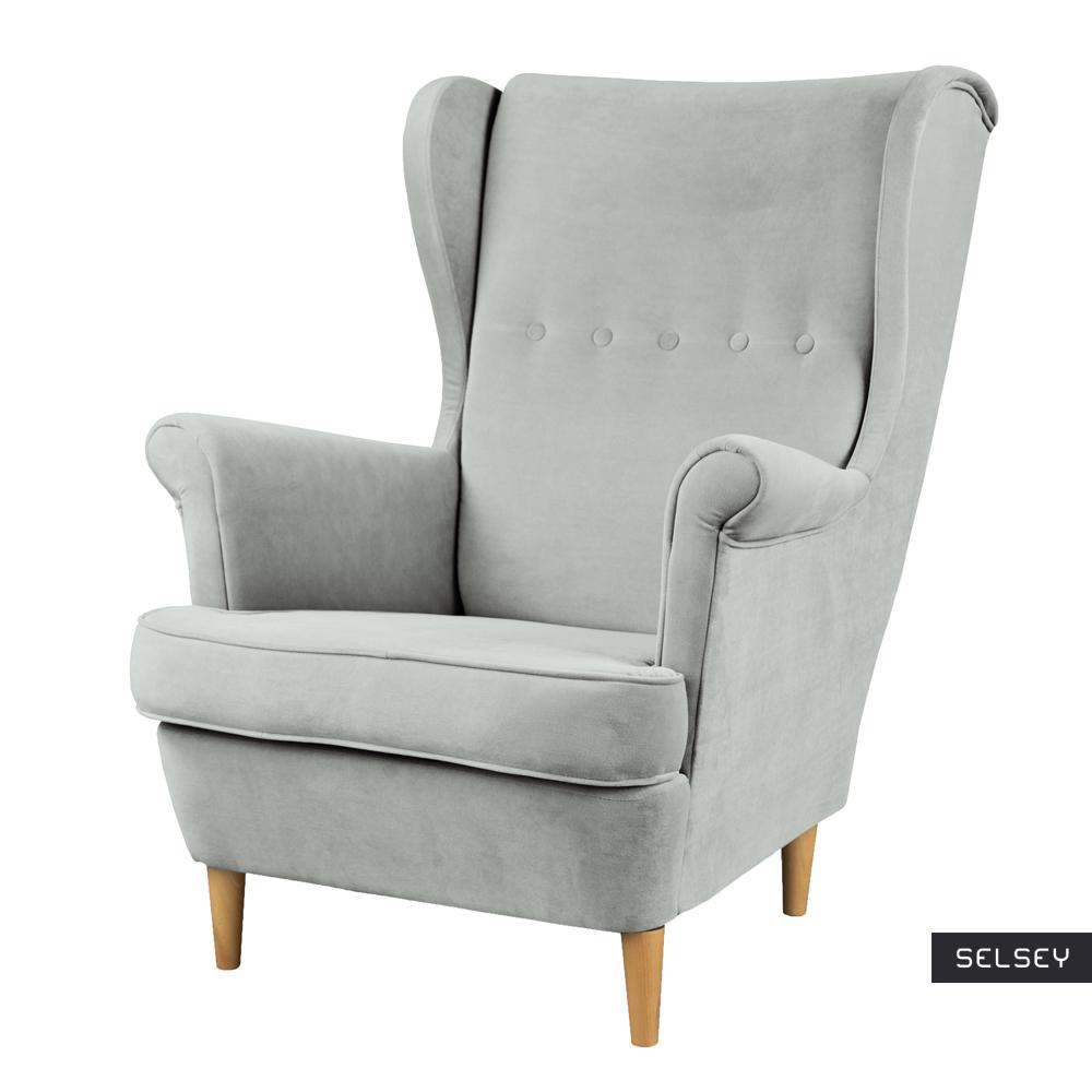 Mallmon Light Grey Armchair in Water-Repellent Fabric