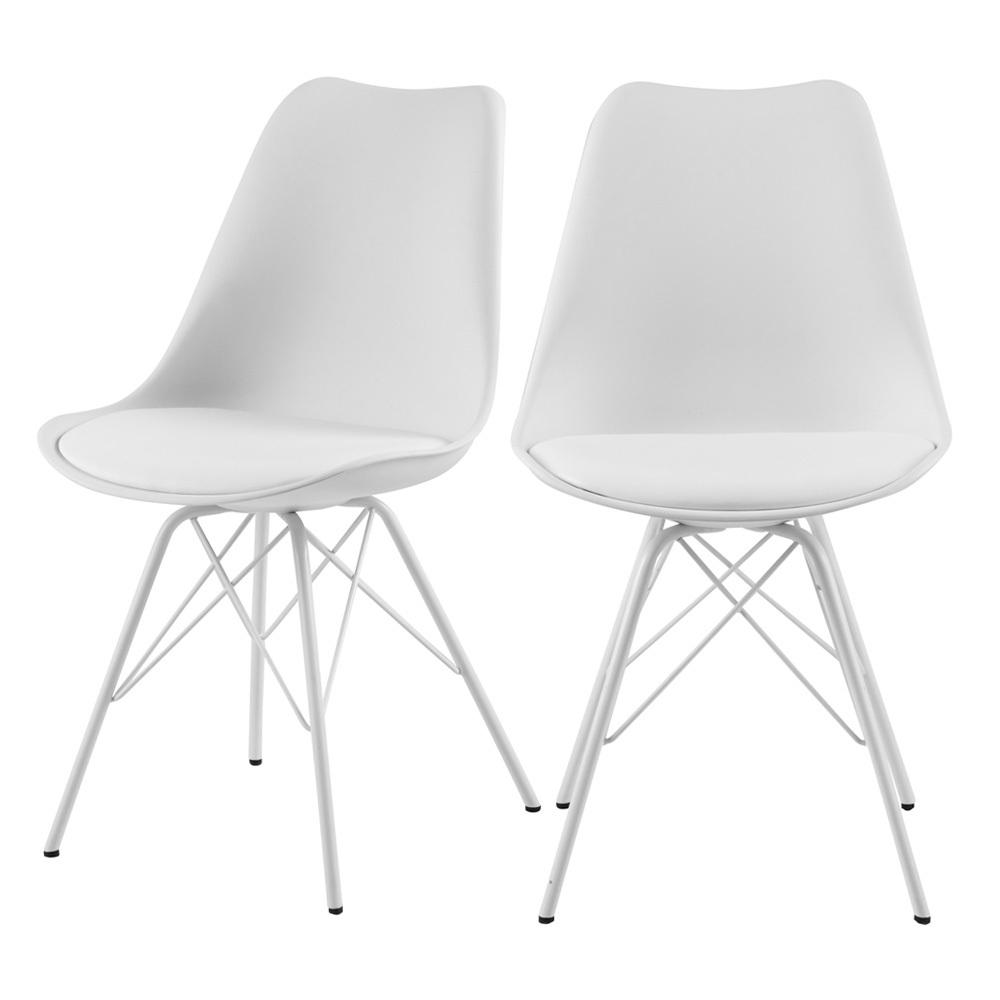 Set of 2 Sapodilla Chairs White