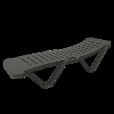 Costa Brava Anthracite Deckchair