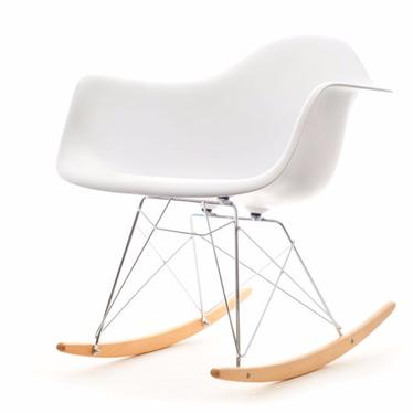 Roxy White Rocking Armchair
