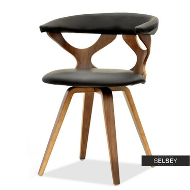 Bonito Wooden Chair Walnut Black