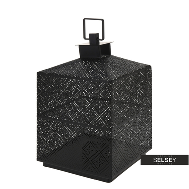 Lumiere Black Metal Lantern 21 cm