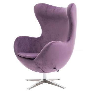Cocoon Velvet Designer Armchair Purple
