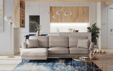 Radyn Corner Sofa Beige with Black Legs