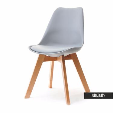 Luis Grey Chair on Beech Legs