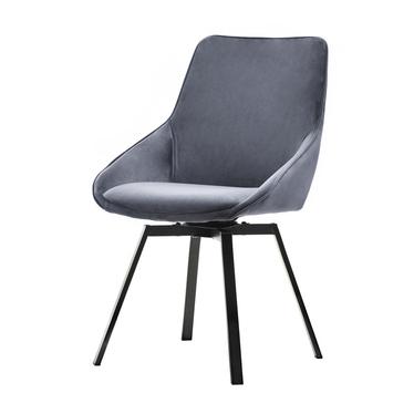 Yanii Grey Swivel Chair