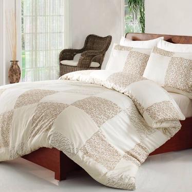 Rose Cream Cotton Satin Bedding