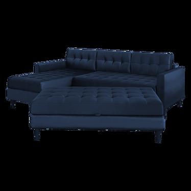 Kopenhaga Reversible Corner Sofa with Pouf