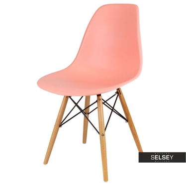 Basic Melon Nordic Style Chair on Wooden Legs