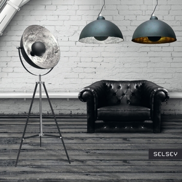 Gravity Industrial Pendant Lamp Black and SIlver
