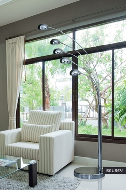 Wisp Chrome Floor Lamp