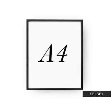 Black A4 Photo Frame