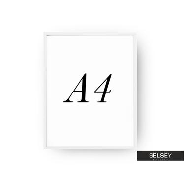 White A4 Photo Frame