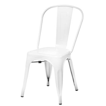 Paris White Metal Chair