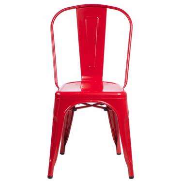 Paris Red Metal Chair