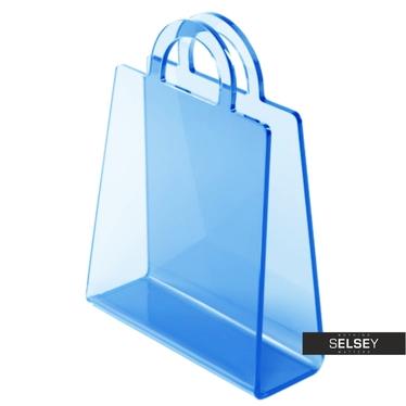 Bolsa Transparent Blue Magazine Holder