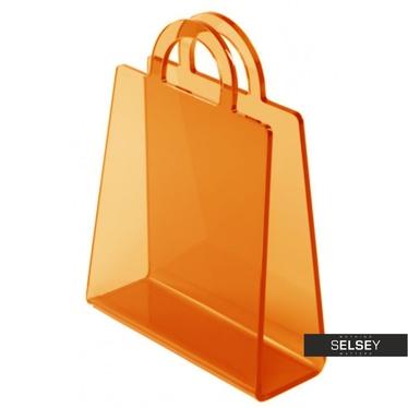 Bolsa Transparent Orange Magazine Holder