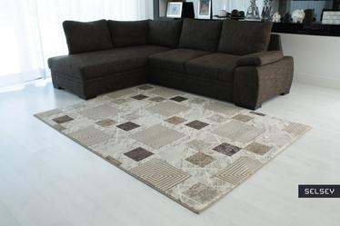 Morocco Squares Brown Carpet