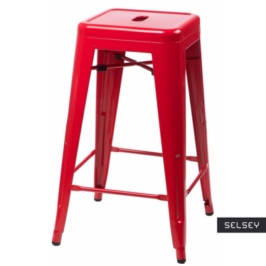 Paris Red Bar Stool 66 cm