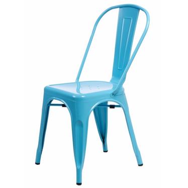 Paris Blue Metal Chair
