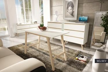Thorita Scandinavian 4 Drawer Low Sideboard
